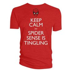 Marvel Official Licensed Quality T-Shirt KEEP CALM MY SPIDER SENSE IS TINGLING TS XL £11.99