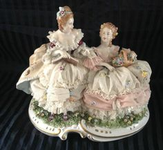 Antique Dresden Porcelain Figurin | eBay Love Dresden! Have 4 figurines in my shop. So delicate and beautiful!