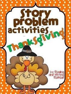 Thanksgiving addition and subtraction story problems practice. The practice includes cutting and gluing story problems next to their answer so the students get some fine motor practice in too. Thanksgiving Classroom Activities, Fun Classroom Activities, Classroom Freebies, Math Classroom, Classroom Ideas, Holiday Activities, Holiday Crafts, Holiday Ideas, Thanksgiving Stories