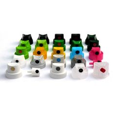25 MIXED CAP PACK - SPRAY PAINT CAPS FOR MONTANA, MOLOTOW, MTN, IRONLAK & KOBRA