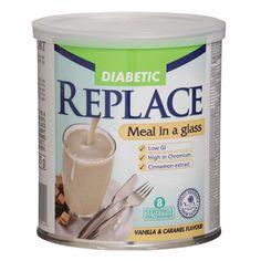 nativa replace - diabetic shake -vanilla and caramel 500g