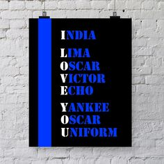 Last Minute Gift - Law Enforcement Thin Blue Line Printable - Gift for Police Officer by PunkalunkPrintables on Etsy https://www.etsy.com/listing/192067400/last-minute-gift-law-enforcement-thin