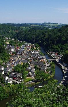 Vianden from the chairlift, Luxembourg