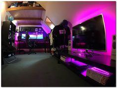 Full Battlestation Room Tour - What do you think? Full Battlestation Room Tour - What do you think? Gaming Room Setup, Computer Setup, Pc Setup, Gaming Rooms, Gaming Computer, Desk Setup, Game Room Design, Playroom Design, Video Game Rooms
