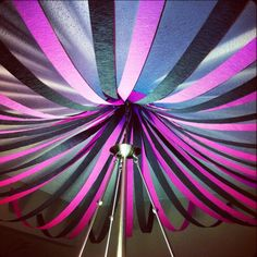 Party Decorations -dark purple,black, silver, and white