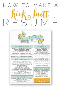 Whitney Blake // How To: Make A Kick Butt Resumé