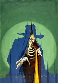 twofistedpulp: The Shadow by George Rozen. Annoying fact for people who collect and tag pulp art: George Jerome Rozen had a twin brother named Jerome George Rozen who also painted covers for The Shadow. Bd Comics, Horror Comics, Comics Girls, Arte Horror, Horror Art, Horror Films, Horror Decor, Horror Vintage, Weird Vintage