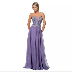 NWT Terani Couture Strapless Gown Prom Sz 4. STUNNING Terani Couture Dresses Prom