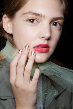 Badgley Mischka Spring 2016 | All of the Brilliant Nail Art Looks That Will Be Trending Next Spring | POPSUGAR Beauty