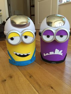 Minion - Minions - Phonics - Obb and Bob (real and alien words / trash and treasure) phonics bins I made today for school. EYFS will love them!