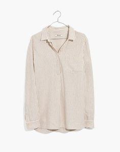 b61fb7a3a5a Flannel Classic Ex-Boyfriend Button-Back Shirt in Stripe. madewell.com