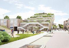 NL Architects Chosen to Design Arnhem's ArtA Center,City View. Image Courtesy of NL Architects