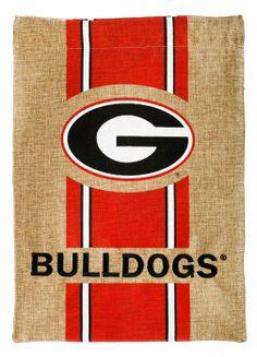 "University of Georgia Bulldogs Burlap Garden Flag. Let everyone know that ""Georgia Dawgs live here!"" Go Tigers!"
