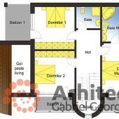Casa cu etaj 61 | Proiecte de case personalizate | Arhitect Gabriel Georgescu & Echipa 2 In, Floor Plans, House, 2nd Floor, Houses, Haus, Homes, Floor Plan Drawing, House Floor Plans