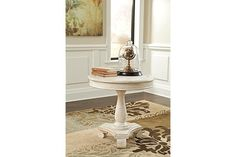 White Mirimyn Accent Table View 1