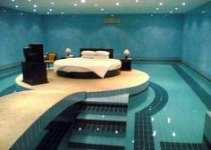 whaaaaaatt??? i always wanted a bedroom with a pool when i was a kid thinking about my dream home... this is awesome.