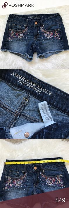 American Eagle Short Size 2 Excellent condition  No trade  No model  American Eagle Outfitters Shorts Jean Shorts