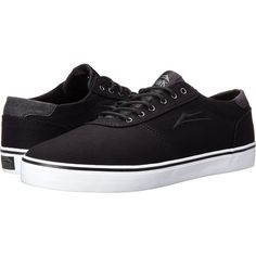 Lakai Manchester Lean (Black Canvas/Riley Hawk) Men's Skate Shoes (575 ZAR) ❤ liked on Polyvore featuring men's fashion, men's shoes, men, shoes, mens shoes, sneakers, black, mens black skate shoes, mens leopard print shoes and mens canvas shoes