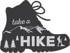 Take a Hike - Hiking Sticker by ericbracewell