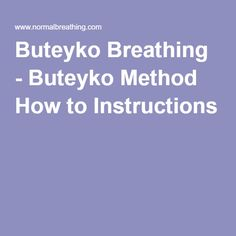 Advanced Buteyko Institute: Breathing Courses, Personal ...