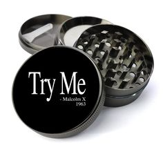 Try Me - Malcolm X Quote Extra Large 5 Piece Spice & Herb Grinder