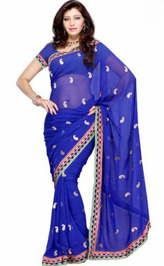 Adorable Blue Color Georgette Designer Saree PR35134001. Sale : $60.00