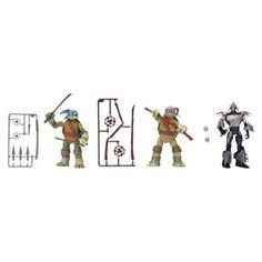 Teenage Mutant Ninja Turtles Basic Figure - 3 Pack (Leo, Don and Shredder)