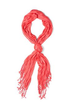 Crinkle in Time Scarf in Coral, #ModCloth