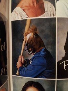 This gym teacher, who doesn't tolerate horsing around. | 22 Teachers Who Know How To Take A Yearbook Photo