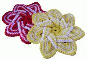 crochet flower hot pad (printed)
