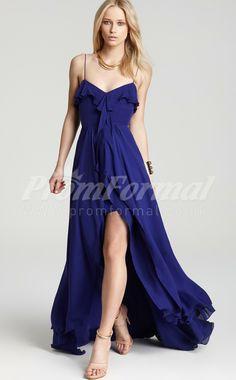 Royal Blue long prom dresses