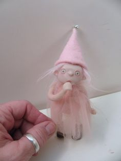 RESERVED ooak poseable baby pink GNOME TODDLER pIXie fairy (6 ) art doll by DinkyDarlings on Etsy, $147.43 AUD