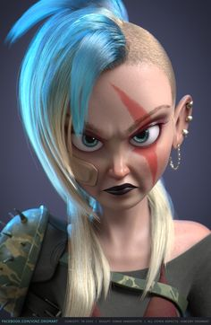 ArtStation - Tank Girl, Vincent Dromart