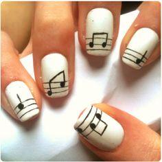 Nail art music notes