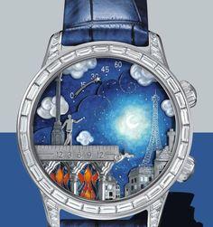 Van Cleef & Arpels, Midnight poetic wish watch, watch, jewellery, fashion,