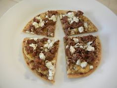 Ground Beef, Feta, and Hummas Pizza