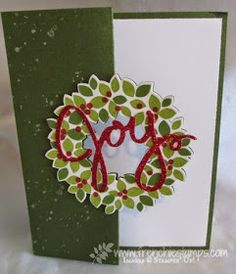 Stamp & Scrap with Frenchie: Flip card with Wondrous Wreath