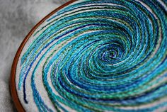 Beautiful swirl embroidery