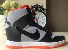 sports shoes 4b2ed bb979 NIKE DUNK SKY HI 2 BR BREEZE GREY BLACK WEDGE 725069 001