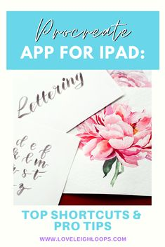 Over the years, we've discovered some awesome Procreate features that we now use everyday. We compiled them in a list to save yourself the trouble of figuring them out on your own.  #PDFdownload #protips #Procreate #Experttips #tricks #timesavers #Apple #iPad Calligraphy Letters Alphabet, Hand Lettering Alphabet, Brush Lettering, Watercolor Lettering, History Of Calligraphy, Learn Calligraphy, Calligraphy Supplies, Calligraphy Tutorial, Lettering Tutorial