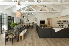 Christina & Ant Anstead's New Home | Christina on the Coast | HGTV Coastal Living Rooms, Coastal Homes, Coastal Cottage, Style At Home, Mid Century Modern Table, Modern Farmhouse Style, Celebrity Houses, Loft Spaces, Little Girl Rooms