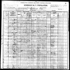 Abraham Baker discovered in 1900 U.S. Federal Census
