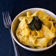 Pumpkin Pecorino Pasta with Fried Sage - Savory Simple