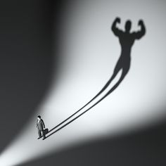 Illustration about Business man casting a shadow of an athlete - business and career strength concept. Illustration of leadership, people, holding - 26018596 Human Shadow, Leadership Strengths, Shadow Images, Best Online Courses, Mental Strength, Angst, Self Confidence, Quotes About Strength, Athlete