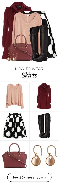 """""""Knee Length Skirt"""" by colierollers on Polyvore featuring Dorothy Perkins, Boutique Moschino, MANGO, MICHAEL Michael Kors and Naturalizer"""