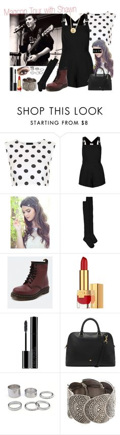 """Magcon Tour with your boyfriend Shawn"" by ghizlanewilde ❤ liked on Polyvore featuring Topshop, Boohoo, Dr. Martens, Giorgio Armani, Mulberry, women's clothing, women, female, woman and misses"
