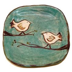 Tweet Plates are back in stock. www.MSGifts.com/etta-b-tweet-plate-turquoise.aspx