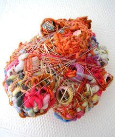 (art for endometriosis - abigail doan). Yarn Bombing, Fabric Manipulation, Outsider Art, Soft Sculpture, Crochet Yarn, Basket Weaving, Textile Art, Art Lessons, Fiber Art