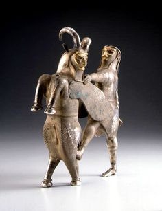 Pre-Achaemenid Silver & Gold Vessel in the form of a Hero & a Winged Bull found in Eastern Anatolia, Mesopotamia, and W Iran in the beginning of the millennium BC - by Oscar Anton - near middle East Culture Ancient Aliens, Ancient History, Art History, Ancient Mesopotamia, Ancient Civilizations, Historical Artifacts, Ancient Artifacts, Perse Antique, Achaemenid