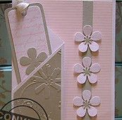 with flowers, and a pocket for a sweet bookmark. - Lovely Pink Embossed Card…with flowers, and a pocket for a sweet bookmark. Lovely Pink Embossed Card…with flowers, and a pocket for a sweet bookmark. Fancy Fold Cards, Folded Cards, Cool Cards, Diy Cards, Tarjetas Diy, Embossed Cards, Pocket Cards, Card Tags, Paper Cards